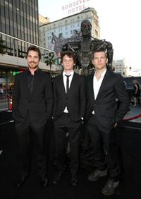 Christian Bale, Anton Yelchin and Sam Worthington at the premiere of