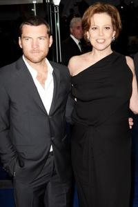 Sam Worthington and Sigourney Weaver at the world premiere of