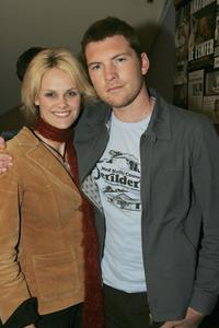 Sam Worthington and Claire Chairsley at the screening of