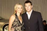 Clare Charsley and Sam Worthington at the 2003 LEXUS IF (Inside Film) Awards.