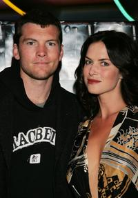 Sam Worthington and Victoria Hill at the premiere of