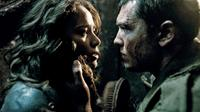 Moon Bloodgood as Blair Williams and Sam Worthington as Marcus Wright in