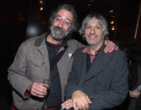 Music producer John Agnello and Lee Ranaldo at the after party of