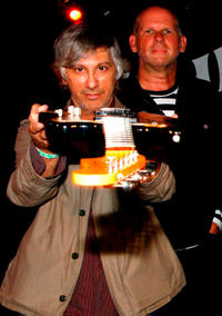 Lee Ranaldo and Jimmy Rip at the Fender Jazzmaster 50th Anniversary Concert in New York.