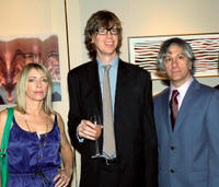 Kim Gordon, Thurston Moor and Lee Ranaldo at the Lower Manhattan Cultural Council's Downtown Dinner and Silent Art Auction in New York.