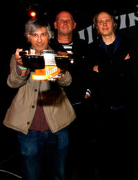 Lee Ranaldo, Jimmy Rip and Tom Verlaine at the Fender Jazzmaster 50th Anniversary Concert in New York.