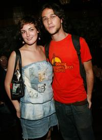 Joseph Gordon-Levitt and Lauren Estelle Jones at the afterparty for the New York premiere of