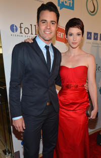Nathan West and Chyler Leigh at the Thirst Project 3rd Annual Gala in California.