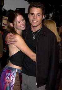 Chyler Leigh and Nathan West at the premiere of