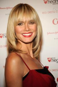 Heidi Klum at the Heart Truth's Red Dress Collection fashion show.
