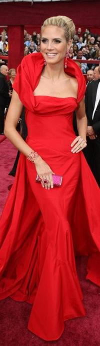 Heidi Klum at the 80th Annual Academy Awards.