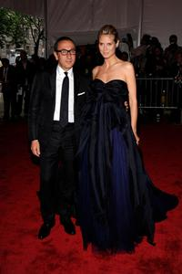 Gilles Mendel and Heidi Klum at the