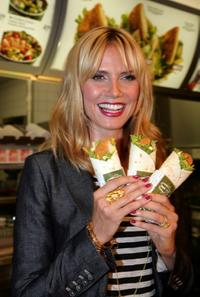 Heidi Klum at the press conference at Munich Inner City McDonald's Restaurant