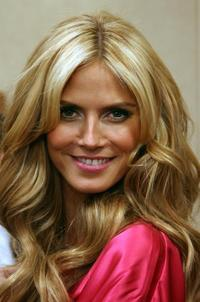 Heidi Klum at the Victoria's Secret fashion show.