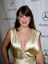 Lindsay Sloane at the Mercedes Benz Fashion Week.