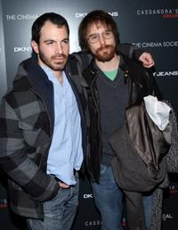 Chris Messina and Sam Rockwell at the New York screening of