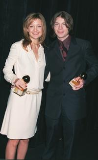 Patrick Fugit and Kate Hudson at the 60th Annual Golden Apple Awards.