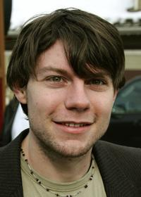 Patrick Fugit at the Sundance Film Festival Street.