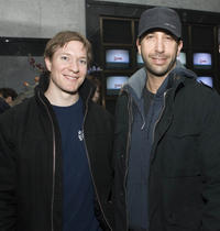 Joe Sikora and David Schwimmer at the Showtime Networks Previews