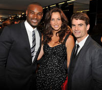 Tyson Beckford, Ingrid Vandebosch and Jeff Gordon at the Dolce & Gabbana Celebrates Fashion's Night Out in New York.
