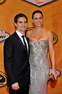 Jeff Gordon and Ingrid Vandebosch at the NASCAR Sprint Cup Series Awards Banquet in Las Vegas.