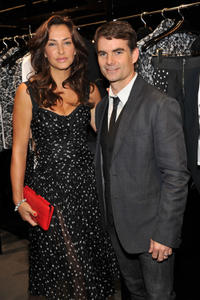 Ingrid Vandebosch and Jeff Gordon at the Dolce & Gabbana Celebrates Fashion's Night Out in New York.