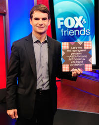 Jeff Gordon at the FOX & Friends Studios in New York.