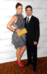 Ingrid Vandebosch and Jeff Gordon at the Gordon Parks Foundation Awards Dinner and Auction in New York.