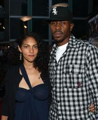Rebekah Harris and Wood Harris at the screening of