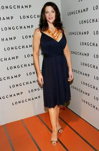 Kim Director at the grand opening of the Longchamp U.S. Flagship Store.