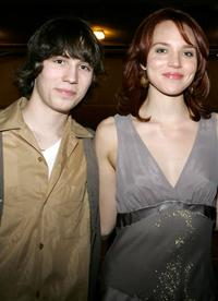 John Patrick Amedori and Erica Leerhsen at the screening of