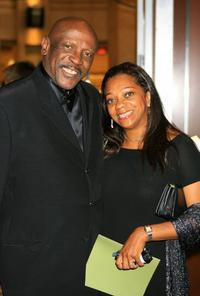 Louis Gossett, Jr. and Guest at the cocktail party for the 34th AFI Life Achievement Award tribute to Sir Sean Connery.