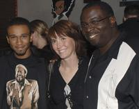 Aaron McGruder, Jill Talley and Gary Anthony Williams at the Los Angeles Launch party of