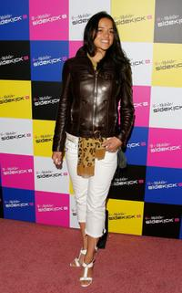 Michelle Rodriguez at the T-Mobile Sidekick iD launch party.