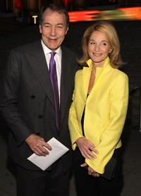 Charlie Rose and Amanda Burden at the Vanity Fair party during the 2008 Tribeca Film Festival.