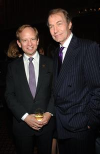 Steven Rattner and Charlie Rose at the WNET and WLIW 13th Annual gala.