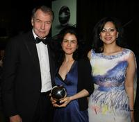 Charlie Rose, Neri Oxman and Datin Azrene Abdullah at the Earth Awards Gala.