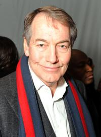 Charlie Rose at the Mercedes-Benz Fall 2009 Fashion Week.
