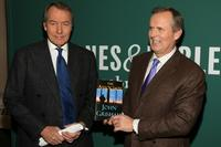 Charlie Rose and John Grisham at the Barnes & Noble Union Square to sign copies of