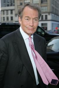 Charlie Rose at the private screening of