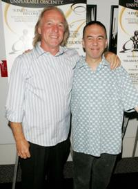Gilbert Gottfried and Jackie Martling at the premiere of