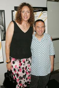 Gilbert Gottfried and Judy Gold at the premiere of