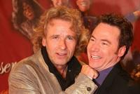 Thomas Gottschalk and Michael Bully Herbig at the premiere of
