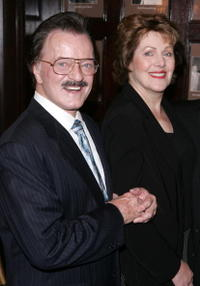 Robert Goulet and Lynn Redgrave at the 2005 Drama Desk Awards nominations at the Friars Club.