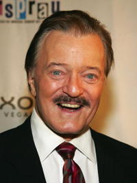 Robert Goulet at the opening night performance of the Broadway musical