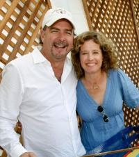 Director Bill Engvall and Nancy Travis at the A Time for Heroes Celebrity Carnival.
