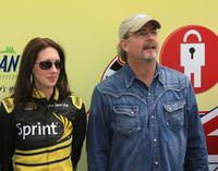 Bill Engvall and Guest at the NASCAR Sprint Cup Series Lifelock 400.