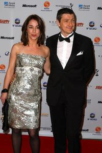 Sofie Grabol and Nicolaj Kopernikus at the 36th Annual International Emmy Awards.