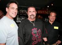 C.J. Graham, Kane Hodder and Warrington Gillette at the Anchor Bay Entertainment's Jason Voorhees Reunion.