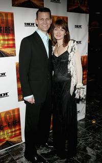 Jarrod Emick and Lari White at the after party of the opening night of